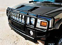 03-09 HUMMER H2 SUT DOUBLE Hunter Grille Brush Grill Guard in Black