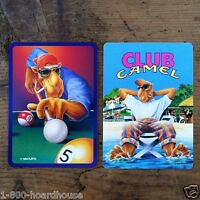 2 Vintage Original JOE COOL CAMEL CIGARETTE Playing Cards Unused Old Stock NOS