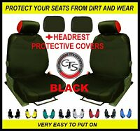 BLACK 2x CAR FRONT SEAT COVER PROTECTOR MINI HATCHBACK ONE COOPER-S