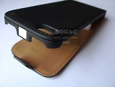 FUNDA CARCASA PIEL NEGRA HQ-GT PARA IPHONE 5 PROTECTOR LEATHER CASE