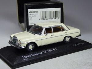 (KI-04-25) Minichamps 430039106 Mercedes 300 SEL 6,3 weiß 1968 in 1:43 in OVP
