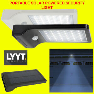 Outdoor 36 LED Bright PIR Motion Security Flood Light Wall Mount - Solar Powered