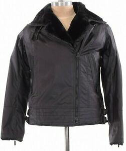 Barbour NWT Waxed Cotton Asymmetrical Jacket W/ Faux Fur Land Rover US 12 $699