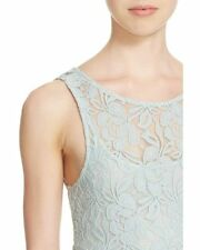 FREE PEOPLE 'Miles of Lace' Fit & Flare Dress in Sky Color S, NEW $128