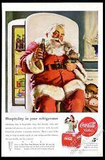 1947 Coke Santa Claus and bunny toy Coca-Cola Christmas vintage print ad