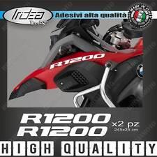 2 ADESIVI SERBATOIO STICKERS MOTO BMW R 1200 GS ADVENTURE LC 245X25 MM BIANCO