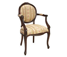 Stuhl Mahagoni Armlehnstuhl Stilmöbel Kolonialmöbel englischer Stil Queen Anne