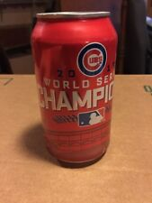2016 Chicago Cubs World Series Champions Budweiser Bud Can Red