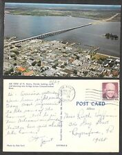 1972 Florida Postcard - Ft. Myers - Air View Looking North
