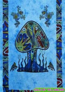 Mushroom Tapestry Bohomen Indian Wall Hanging Wholesale (77cmX102cm)T-2