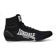 Lonsdale Mens Contender Boxing Boots Mid Laceup Breathable Size 9 Black New