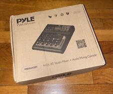 Pyle Audio Mixer Sound Board Interface 4 Channel Digital Usb Bt - Open Box