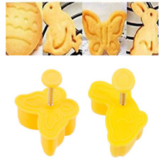 4X Easter Egg Rabbit Cake Fondant Plunger Cutter Cookies Biscuit Pastry DIY Mold