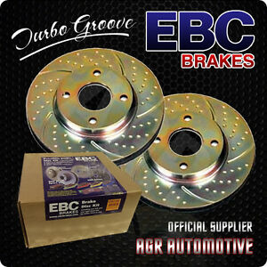 EBC TURBO GROOVE FRONT DISCS GD594 FOR AUDI COUPE 2.0 1988-92