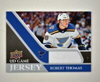 2020-21 UD Series 1 Game Jersey Relic #GJ-RT Robert Thomas  - St. Louis Blues