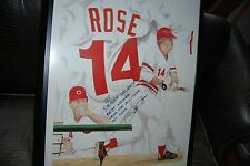 """PETE ROSE #14 """"ARTIST PROOF"""" SIGNED PICTURE """"THUMBS UP ROAD TO THE HALL OF FAME"""""""