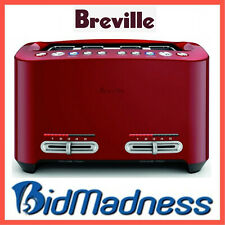 BREVILLE BTA845CRN the SMART TOAST 4 SLICE EXTRA WIDE TOASTER CRANBERRY