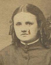 WOMAN SEATED, RINGLET CURLS. CDV. MCKEESPORT, PA.