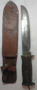 EGW Waterman World War II Fighting Utility Knife & Sheath.