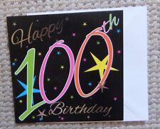 Happy 100th Birthday Stars Greetings Card