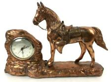 Vintage New Haven Metal Horse Mantel Clock Lot 1125