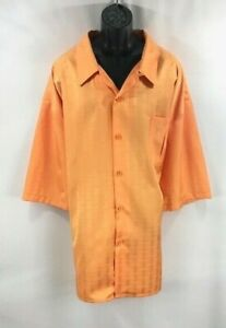 Smokey Joe's Men's Leisure Suit 2 Piece Orange Pleated Front Pants Size 5XL