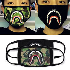 1pc A Bathing Ape Bape Shark Black Face Mask Camouflage Mouth-muffle BAPE Covers