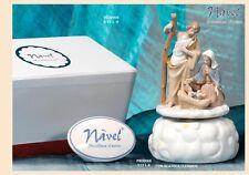 Natività Presepe carillon 13 cm porcellana Navel by Paben con scatola Deluxe