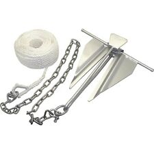Kimpex Anchor Boat Kit 3/8 x 100in Nylon Rope Slip Ring 5/16in Shackle x 2