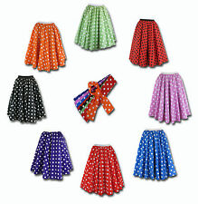 Ladies Lindy Hop Bop Polka Dot Dance Skirt and Scarf -  UK STOCK