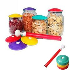 10Pcs/Set Jar Sealer Vacuum Cover Fresh Keeping Cover Food Saving Storage Lid CN