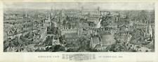 1894 Brewer Map or Panoramic View of Cambridge, England