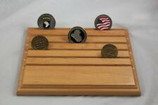 Military Challenge Coin Holder/Display 8x10, Personalize