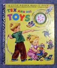 1952 TEX AND HIS TOYS Elsa Ruth Nast CORINNE MALVERN Little Golden Make-It Book