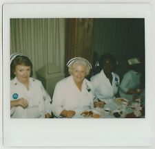 Vintage 80s Kodak Instant PHOTO Group Women Nurses at Brunch