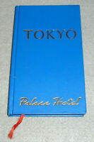 Vintage Japan Travel Book Tokyo Palace Hotel City Guide Illustrated w/Maps 1979