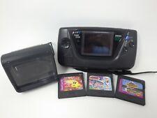 Sega Game Gear Handheld Console - Black W/ Magnifier Super Wide Gear READ DESC.