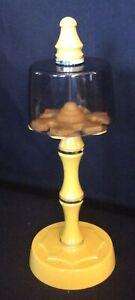 Vintage harvest gold bathroom toothbrush holder smoked plastic cover