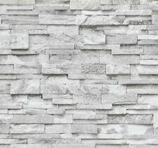 Vliestapete Stein Steine Mauer 3D grau weiß P+S 02363-30 (1,89€/1qm)