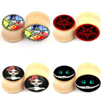 Ear Gauges Tunnel Plugs Wood Ear Expansion Wooden Organic Ear Expander Stretcher