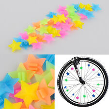 36PCS Colorful Plastic Star Clip DIY Bike Bicycle Wheel Beads Spoke  Decoration
