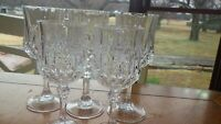 Water Goblet Longchamp Wine Glasses by CRISTAL D'ARQUES-DURAND 3 water 2 wine