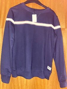 Ladies Navy Blue Jumper With White And Red Strip Size XS 6/8