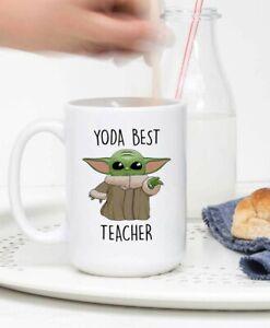 Yoda Best Teacher Mug Baby Yoda Best Teacher Mug Teacher Mug Funny Teacher Mug