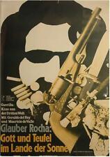 Schwarz God Weiß Teufel Deutsch A1 Filmposter Glauber Rocha Hans Hillmann 1964