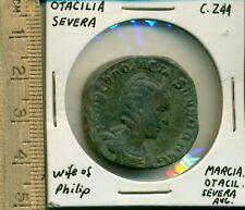 Otacilia Severa c244 Wife of Philip Marcia Otacil Severa Aug Concordia Augg