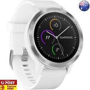 GARMIN VIVOACTIVE 3 GPS SPORTS Smartwatch HRM Heart Rate Monitor Steel WHITE