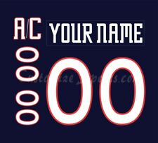 Columbus Blue Jackets Customized Number Kit for 2000-2001 Blue Jersey