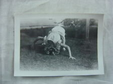 Unusual Vintage Photo Girl w/ Head in Ground 808