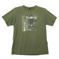 HURLEY Origin Design Tee T-Shirt Mens Size M Medium Faded Green Short Sleeve